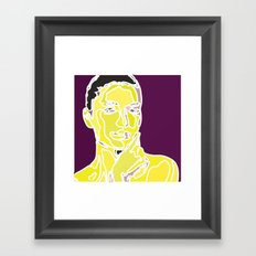 yellow face Framed Art Print