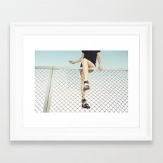 Hoping Fences Framed Art Print