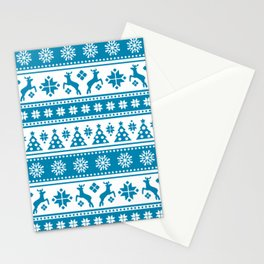 Christmas Holiday Nordic Pattern Cozy Stationery Cards