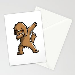 Funny Goldendoodle Dabbing Stationery Cards