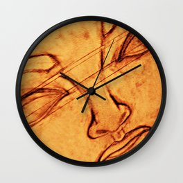 What Comes Before, What Lies Beneath From a Different Perspective Wall Clock