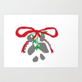 Merry Mistletoe Art Print