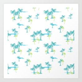 Oasis (Atlantic blue) Art Print