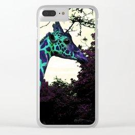 Alien Giraffe Has Landed Clear iPhone Case