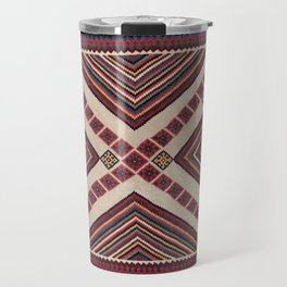 Qashqa'i  Antique Fars Persian Kilim Print Travel Mug