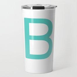 Custom Blue Scrabble Letter B Travel Mug