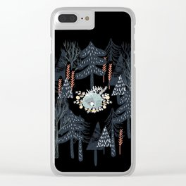 fairytale night forest Clear iPhone Case
