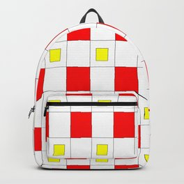 Tribute to mondrian 2- piet,geomtric,geomtrical,abstraction,de  stijl, composition. Backpack
