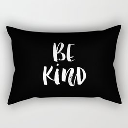 Be Kind black and white watercolor modern typography minimalism home room wall decor Rectangular Pillow