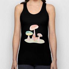 Mushrooms trees Unisex Tank Top