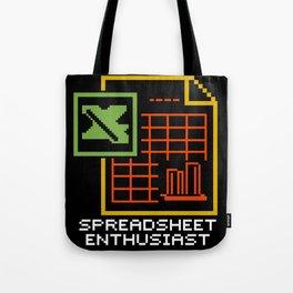 Spreadsheet Enthusiast  Tote Bag