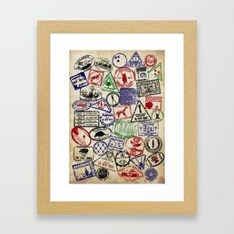 On Location Framed Art Print