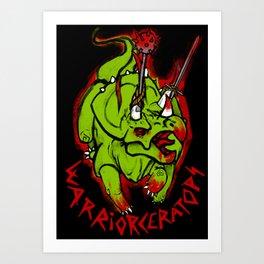 Warriorceratops! Art Print
