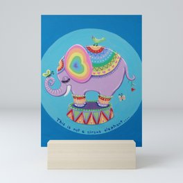 This is Not a Circus Elephant Mini Art Print