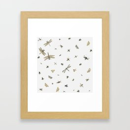 Bugs - Entomology pattern Framed Art Print