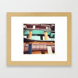 Trois Barques Framed Art Print