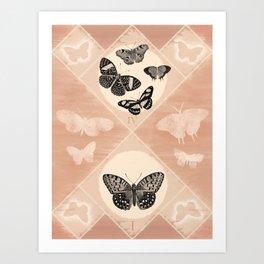 Fluttering in the Moonlight Art Print
