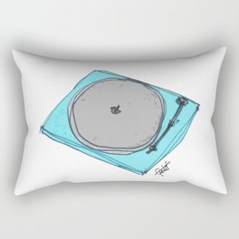 """Waxx"" Audiophile Turntable Blue Rectangular Pillow"