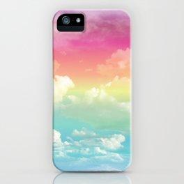 Clouds in a Rainbow Unicorn Sky iPhone Case
