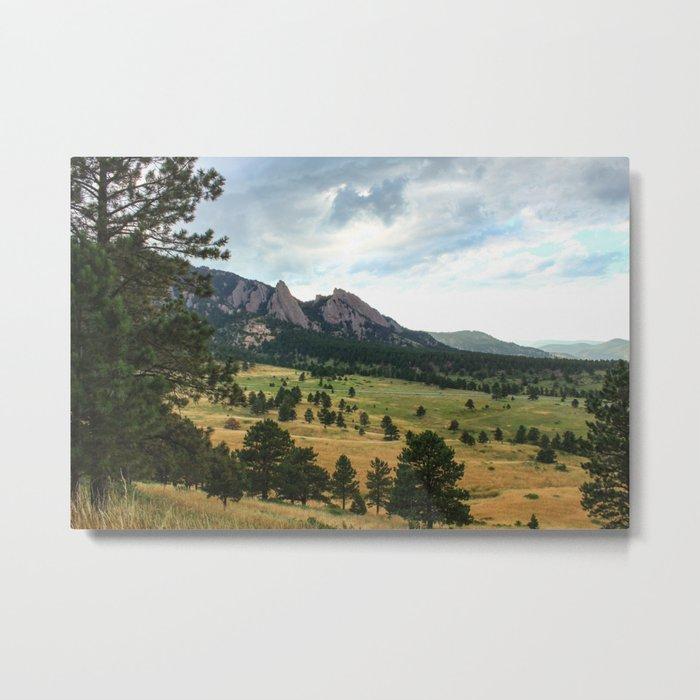 Boulder Flatirons Metal Print
