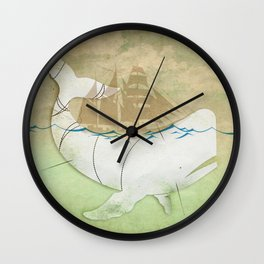 The ghost of Captain Ahab, Moby Dick Wall Clock