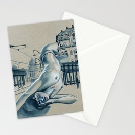 In the city // nude cityscape Stationery Cards