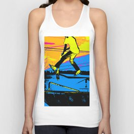 """Air Walking""  - Stunt Scooter Unisex Tank Top"