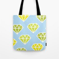 diamonds Tote Bags featuring Diamonds by evannave