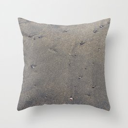 Pebbles on the sand Throw Pillow