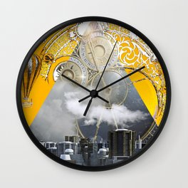 Abstract Collage City Clocks Wall Clock