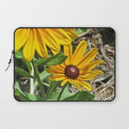 Black-eyed Susans and a Busy Bee Laptop Sleeve