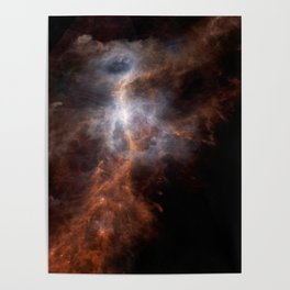 Ionized Carbon Atoms in Orion Poster