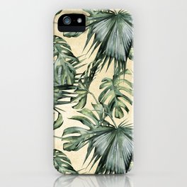 Palm Leaves Classic Linen iPhone Case