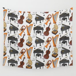 musical instrument pattern Wall Tapestry