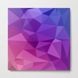 Geometric Abstract Art Pattern Two Metal Print