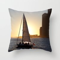 dumbo Throw Pillows featuring DUMBO by ninamariepark