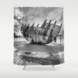 Merchant seafarer's war memorial 2 mono Shower Curtain