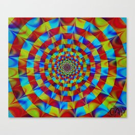 ZOOM #1 Vibrant Psychedelic Optical Illusion Canvas Print