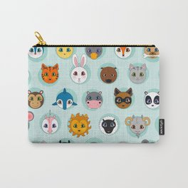 Baby Animal Dots Carry-All Pouch