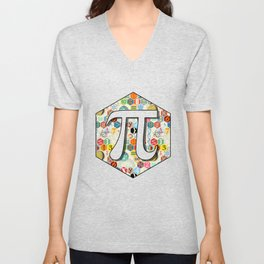 Math in color (little) Unisex V-Neck