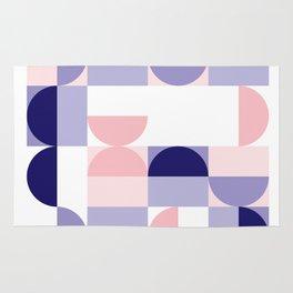 Minimal Bauhaus Semi Circle Geometric Pattern 2 - #bauhaus #minimal Rug