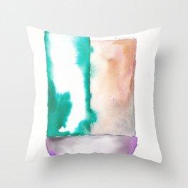 180914 Minimalist Geometric Watercolor 7 Throw Pillow