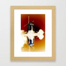 Windmill Reflection #5 Framed Art Print