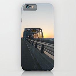 Valentine's bridge sunset iPhone Case