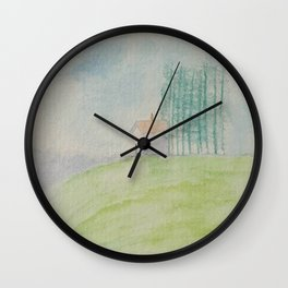 Hilltop house Wall Clock