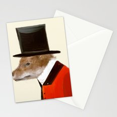 the dapper fox Stationery Cards