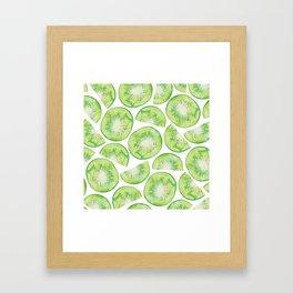 Watercolour Kiwi Fruit Framed Art Print