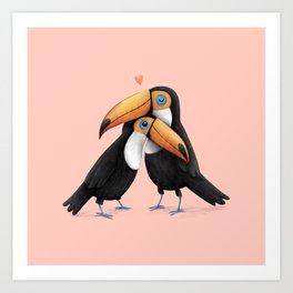 Toucan Love Art Print