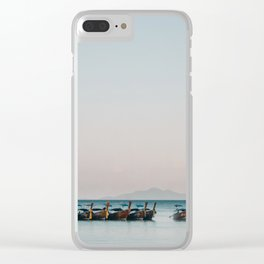 Boats on the Andaman Sea Clear iPhone Case