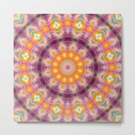 Pastel Star Mandala Metal Print